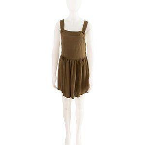 ASOS Khaki Pinafore Dress Size 8